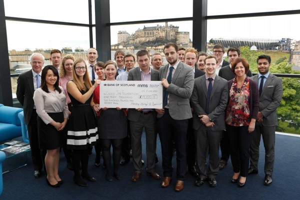 Cheque Presentation at Maclay Murray & Spens