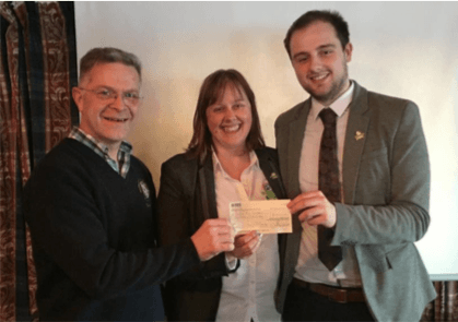 Cheque-presentation-in-memory-of-Hamish-Ferguson-compressor