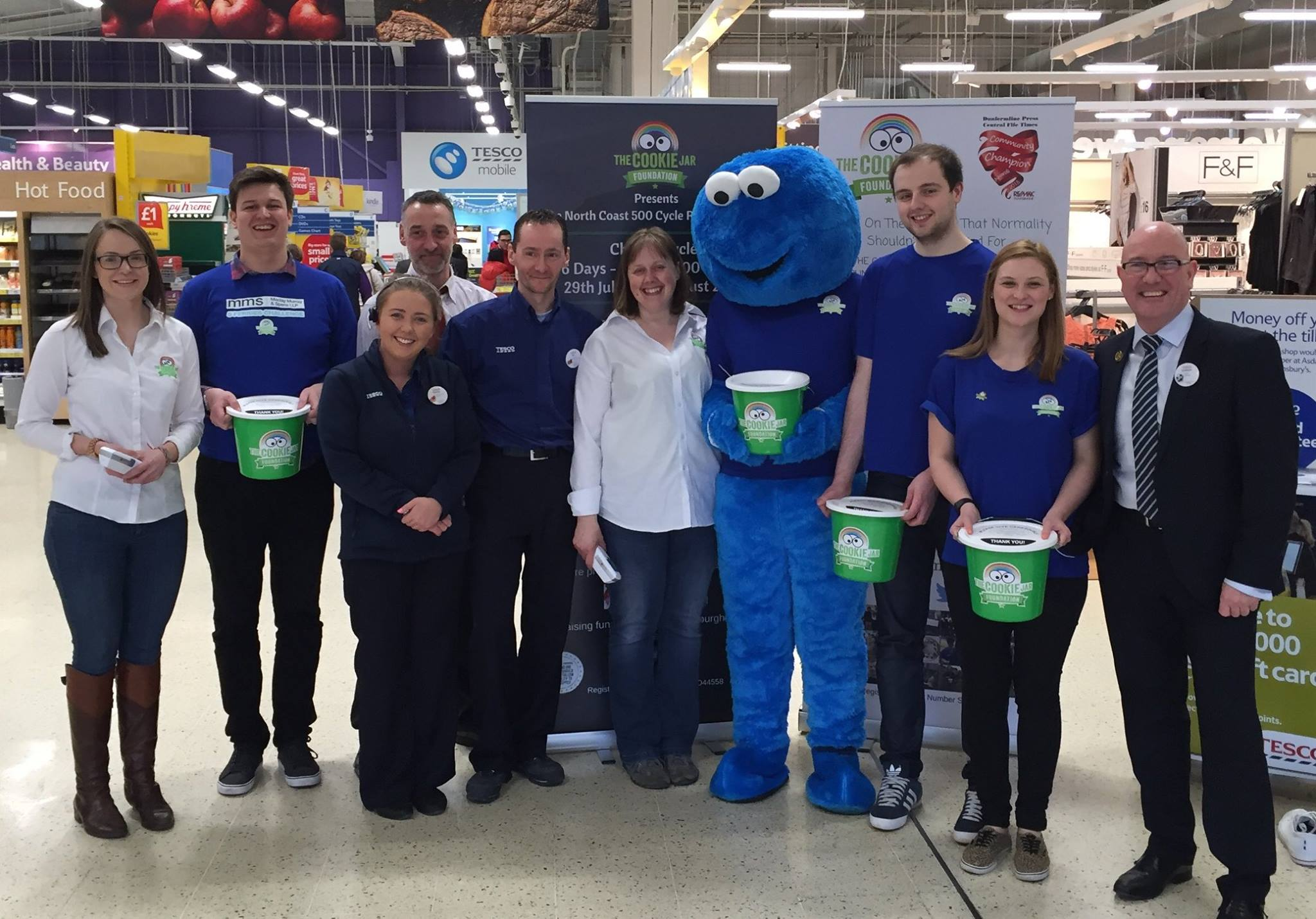 Team Cookie Fundraising at Tesco Hermiston Gait