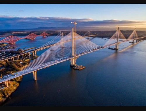 Patrick,Aimee, Ali & Pauline walking across the Queensferry Crossing
